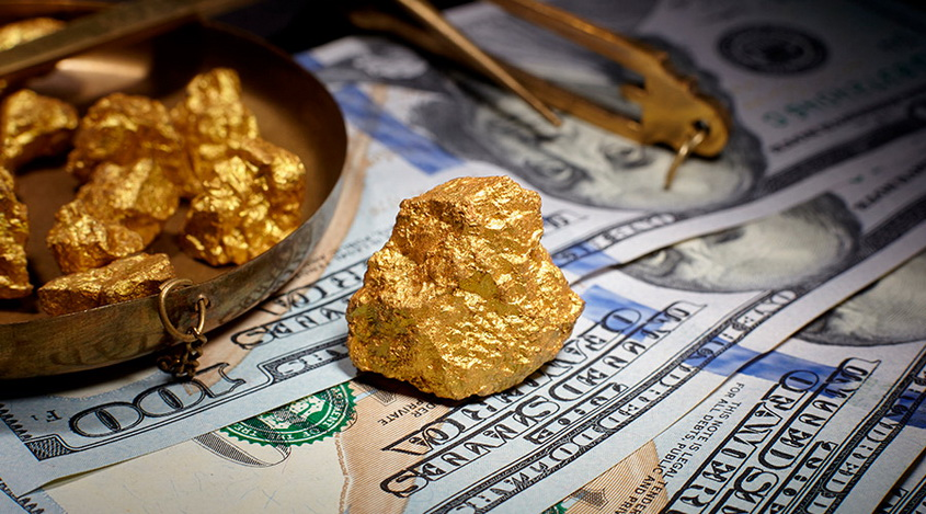 Gold prices fell, the dollar continued to rise